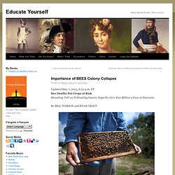 Importance of BEES Colony collapse - Educate YourselfEducate Yourself