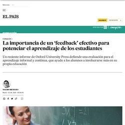 La importancia de un 'feedback' efectivo para potenciar el aprendizaje de los estudiantes