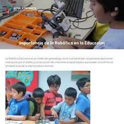 Importancia de la Robótica en la Educacion
