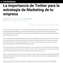 La importancia de Twitter para la estrategia de Marketing de tu empresa