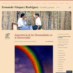 Importancia de las Humanidades en la Universidad