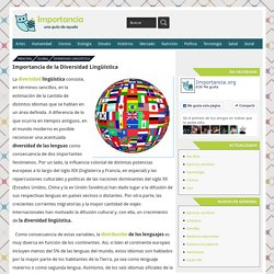 Importancia de la Diversidad Lingüística