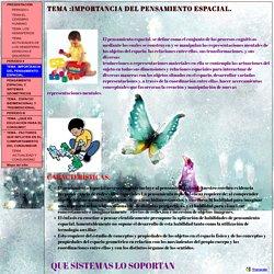 TEMA :IMPORTANCIA DEL PENSAMIENTO ESPACIAL. - rossymen79