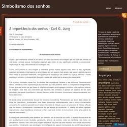 A importância dos sonhos – Carl G. Jung