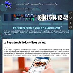 La importancia de los vídeos online. - DISEÑO WEB