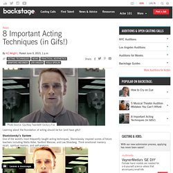 8 Important Acting Techniques (in Gifs!)