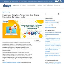 Important Activities Performed By a Digital Marketing Company India