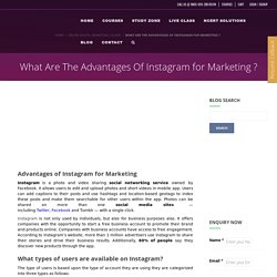 What Are 8 Most Important Benefits & Advantages of Instagram for Marketing