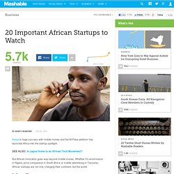 20 Important African Startups to Watch