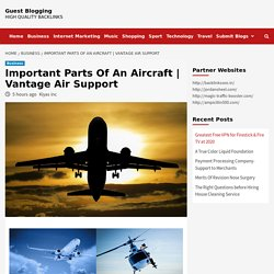 Important Parts Of An Aircraft
