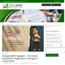 Google BERT Update – The Most Important Algorithm Change in Long Years