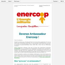 C'est important pour nous :Réseau d'ambassadeurs Enercoop LRet Agend