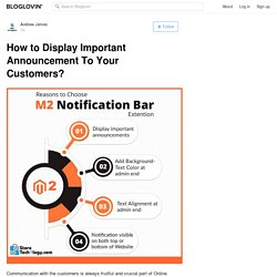 How to Display Important Announcement To Your Customers?