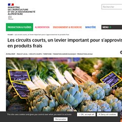 MAA 03/11/20 Les circuits courts, un levier important pour s'approvisionner en produits frais
