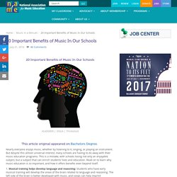 20 Important Benefits of Music In Our Schools - National Association for Musi...