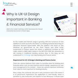 Why is UX-UI Design important in Banking & Financial Service?