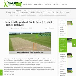 Easy And Important Guide About Cricket Pitches Behavior