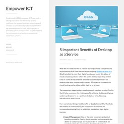 5 Important Benefits of Desktop as a Service