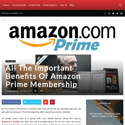 All The Important Benefits Of Amazon Prime Membership