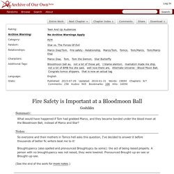 Fire Safety is Important at a Bloodmoon Ball - Goshikku