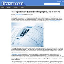 The Important Of Quality Bookkeeping Services in Ukraine