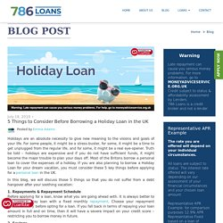5 Important Things to Know Before Borrowing a Holiday Loan