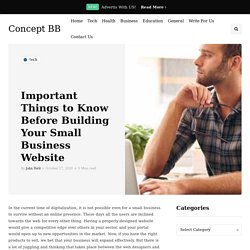 Important Things to Know Before Building Your Small Business Website