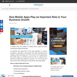 How Mobile Apps Play an Important Role in Business Growth