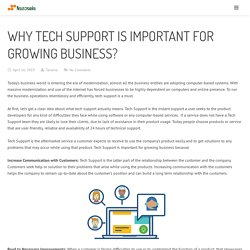 Why Tech Support is important for growing Business?