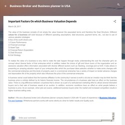 Important Factors On which Business Valuation Depends