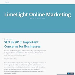 SEO in 2016: Important Concerns for Businesses