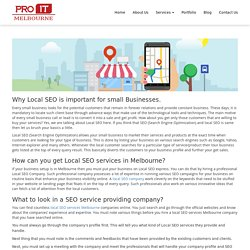 Why Local SEO is important for small Businesses - Pro IT Melbourne