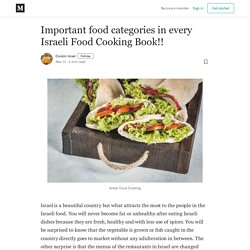 Important food categories in every Israeli Food Cooking Book!!