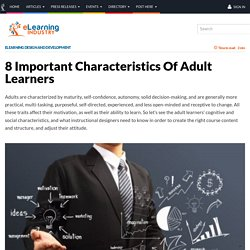 8 Important Characteristics Of Adult Learners