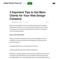 3 Important Tips to Get More Clients for Your Web Design Company