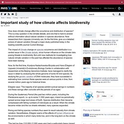 Important study of how climate affects biodiversity