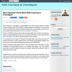 Most Important Points While NDA Coaching in Chandigarh