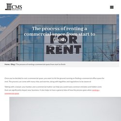 5 Important Steps of Renting A Commercial Property In India