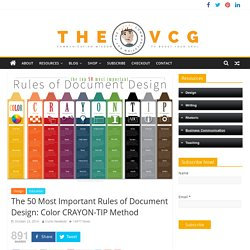 The 50 Most Important Rules of Document Design: Color CRAYON-TIP Method – The Visual Communication Guy: Designing, Writing, and Communication Tips for the Soul