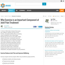 Why Exercise is an Important Component of Joint Pain Treatment