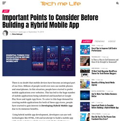 Important Points to Consider Before Building a Hybrid Mobile App