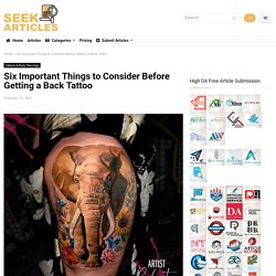 Six Important Things to Consider Before Getting a Back Tattoo