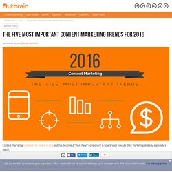 The Five Most Important Content Marketing Trends For 2016