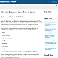The Most Important Cycle: Steroid Cycles