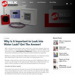 Why Is It Important to Look into Water Leak? Get The Answer!