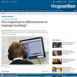 How important is differentiation in language teaching?