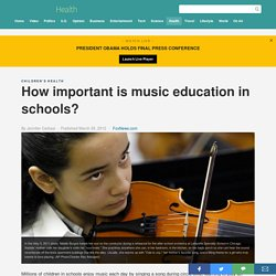 How important is music education in schools?