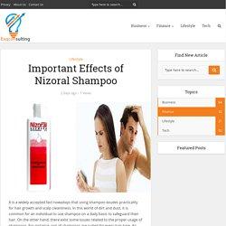 Important Effects of Nizoral Shampoo