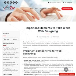 Which are the Important Elements of Web Design?
