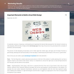 Important Elements to Build a Great Web Design